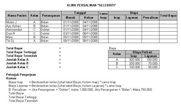 Soal Latihan Excel (IF, VLookup, Statistik)