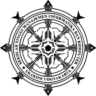 logo akakom hitam putih