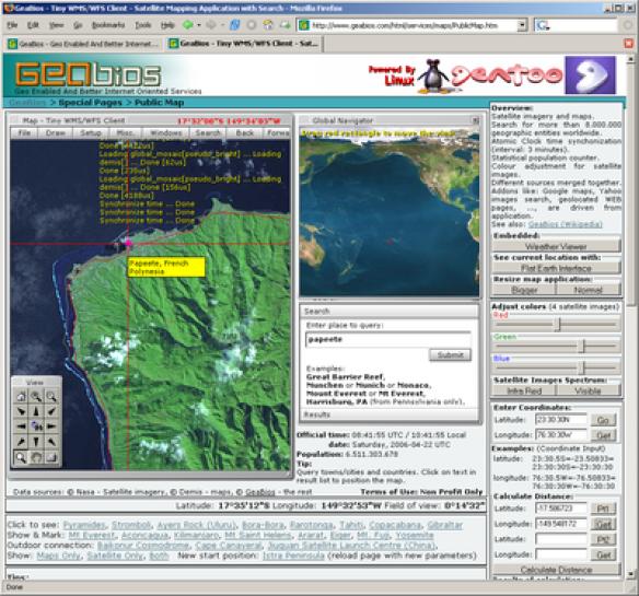 Contoh SIG berbasis Web (Web GIS)
