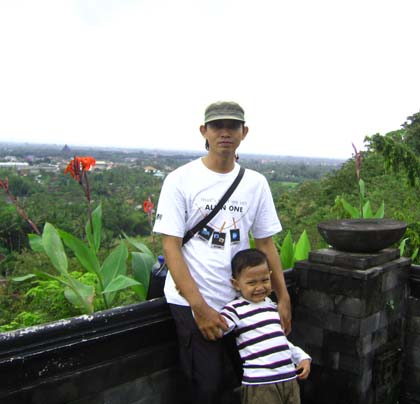 Istana Ratu Boko di atas bukit