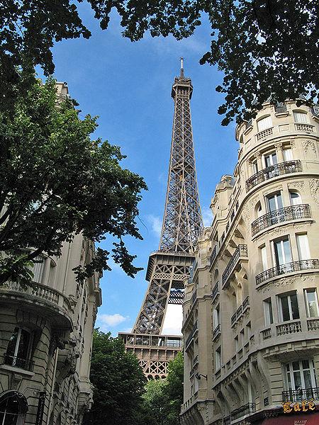 Menara Eiffel dan lingkungan sekitarnya