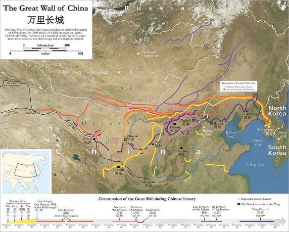 Peta Tembok Besar Cina