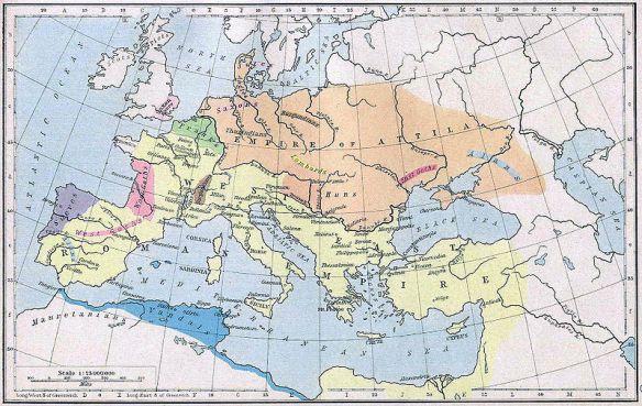 Peta Wilayah Kekuasaan Attila The Hun