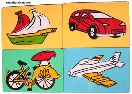 Puzzle hewan / buah / transportasi