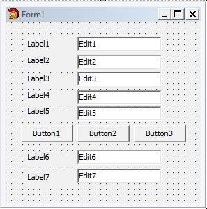 Desain Form - Peletakan Control