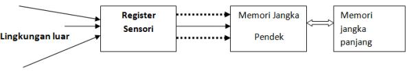 Skema memori manusia dalam memproses informasi