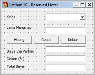 Latihan 10: Reservasi Hotel