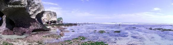 Teknik Panorama - Pantai Indrayanti, Gunung Kidul Yogyakarta