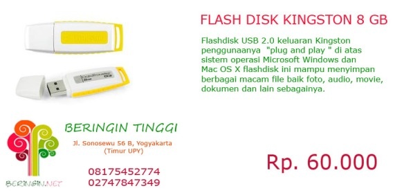Flash Disk Kingston 8 GB (Putih Kuning)